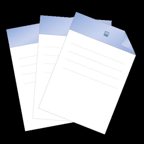 Briefpapier HKS | DIN A4 einseitig | 3/0-farbig